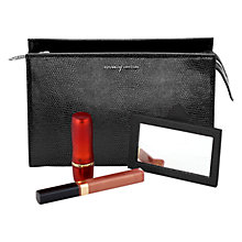 Buy Aspinal of London Lizard Print Leather Cosmetics Case Online at johnlewis.com