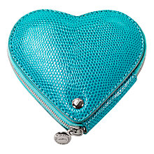 Buy Aspinal of London Lizard Print Leather Heart Coin Purse Online at johnlewis.com