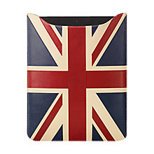 Buy Aspinal of London Brit Leather iPad2 Sleeve, Royal Sapphire Blue Online at johnlewis.com