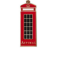Buy Aspinal of London Metal London Phone Box Key Ring, Red Online at johnlewis.com