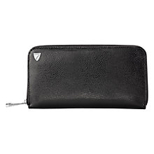Buy Aspinal of London Continental Zip Around Wallet, Black Lizard Online at johnlewis.com