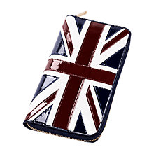 Buy Aspinal Brit Patent Leather Passport Wallet, Multi Online at johnlewis.com