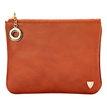 Buy Aspinal of London Smooth Leather Large Flat Cosmetics Pouch Online at johnlewis.com