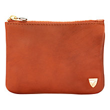 Buy Aspinal of London Smooth Leather Mini Flat Cosmetics Pouch Online at johnlewis.com