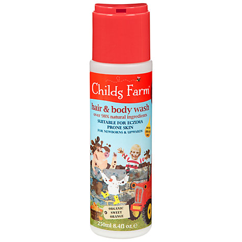 Buy Childs Farm Hair and Body Wash for Dirty Rascals, 250ml Online at johnlewis.com
