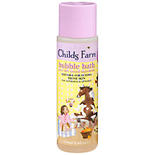 Buy Childs Farm Clean Bubble Bath for Sweet Dreams, 250ml Online at johnlewis.com