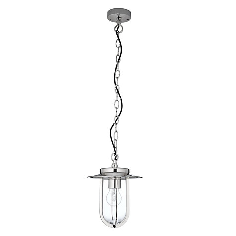 Buy Astro Montparnasse Outdoor Pendant, Polished Nickel Online at johnlewis.com