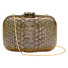 Buy Aspinal of London Leather Python Print Cleopatra Clutch Bag Online at johnlewis.com