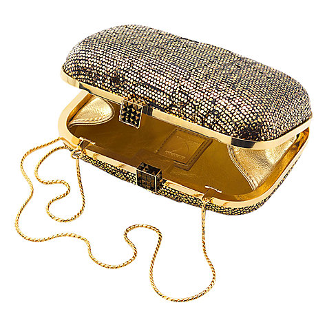 Buy Aspinal of London Python Print Cleopatra Clutch Bag Online at johnlewis.com