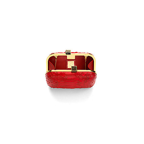 Buy Aspinal of London Leather Python Print Cleopatra Clutch Handbag Online at johnlewis.com