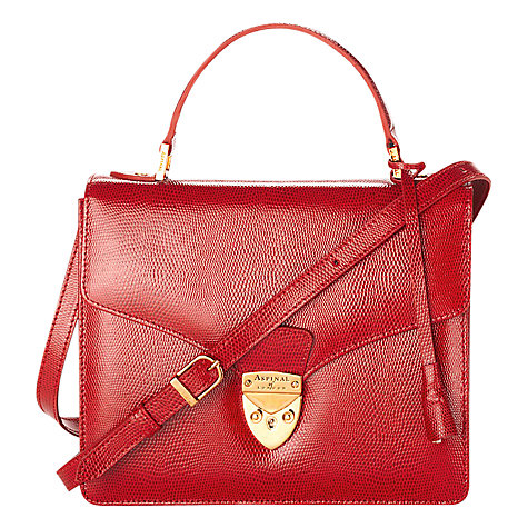 Buy Aspinal of London Mayfair Leather Satchel Bag Online at johnlewis.com