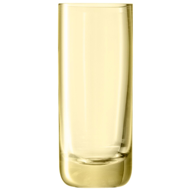 LSA Polka Vase, H20cm, Yellow