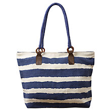 Buy East Stripe Print Jute Bag, Shale Online at johnlewis.com