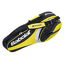 Buy Babolat Club Line 3 Racket Bag, Yellow/Black Online at johnlewis.com