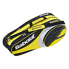 Buy Babolat Club Line 6 Racket Bag, Yellow/Black Online at johnlewis.com