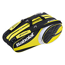 Buy Babolat Club Line 12 Racket Bag, Yellow/Black Online at johnlewis.com