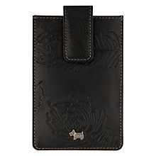 Buy Radley Ashworth Leather Plant Pattern iPhone Case, Black Online at johnlewis.com