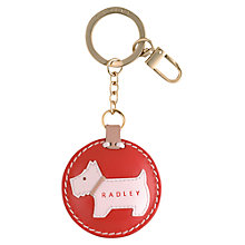 Buy Radley Cleasby Round Leather Keyring Online at johnlewis.com