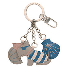 Buy Radley In The Sun Keyring, Blue/Grey Online at johnlewis.com