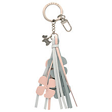 Buy Radley Tamar Flower Leather Keyring Online at johnlewis.com