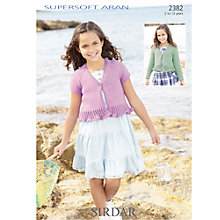 Buy Sirdar Supersoft Aran Knitting Leaflet, 2382 Online at johnlewis.com