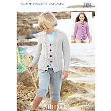 Buy Sirdar Supersoft Aran Knitting Leaflet, 2383 Online at johnlewis.com