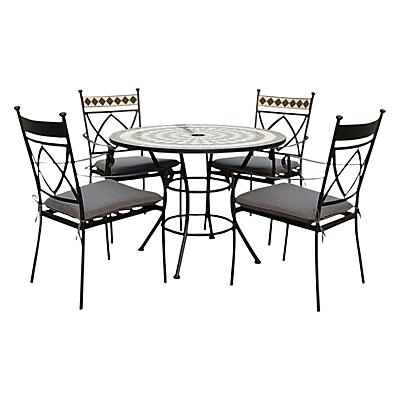 Leisuregrow Casablanca Outdoor 4 Seater Dining Set