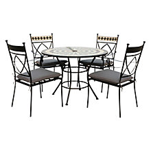 Buy Leisuregrow Casablanca Outdoor 4 Seater Dining Set with Parasol Online at johnlewis.com