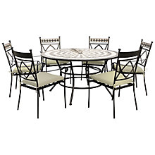 Buy Leisuregrow Casablanca Outdoor 6 Seater Dining Set with Parasol Online at johnlewis.com