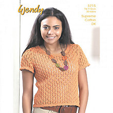 Buy Wendy Supreme Cotton DK Lace Top Knitting Leaflet, 5715 Online at johnlewis.com