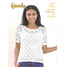 Buy Wendy Crochet Top Leaflet, 5718 Online at johnlewis.com