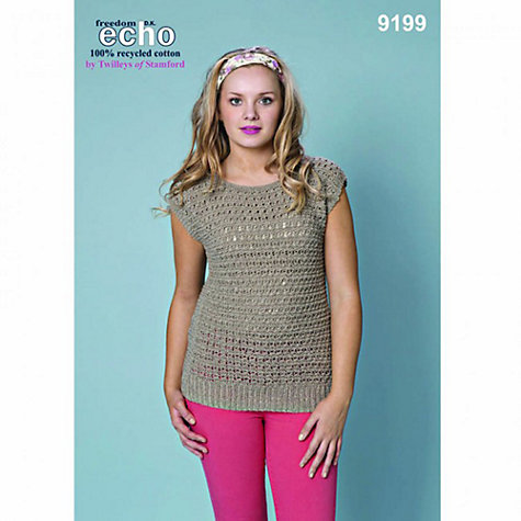 Buy Twilleys Echo DK Freedom Textured Top Knitting Pattern, 9199 Online at johnlewis.com