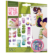 Buy Style Me Up! Textured Sticker Pack, Assorted Online at johnlewis.com