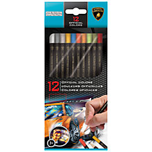 Buy Lamborghini Official Colours Pencils, Pack of 12 Online at johnlewis.com