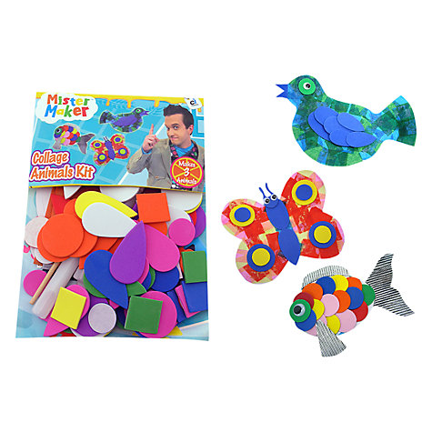 Buy Mister Maker Collage Animals Kit Online at johnlewis.com