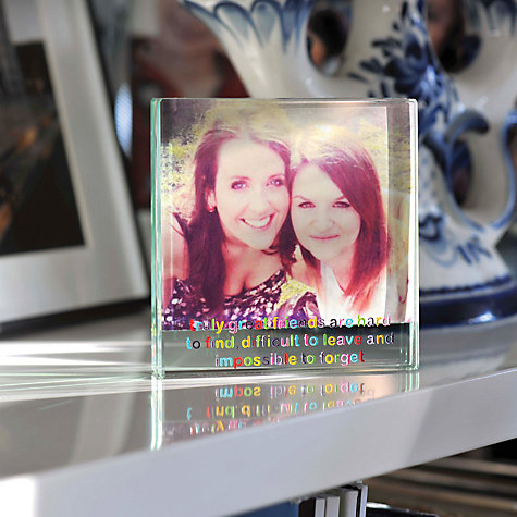 Buy Spaceform Great Friends Square Photo Frame, 9 x 8.5cm Online at johnlewis.com
