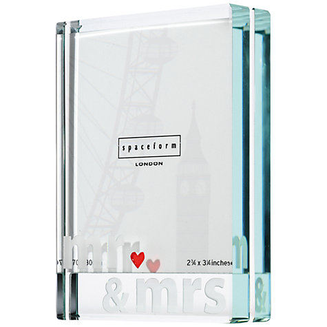 Buy Spaceform Mr & Mrs Photo Frame, Small Online at johnlewis.com