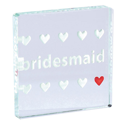 Buy Spaceform Bridesmaid Thank You Token Online at johnlewis.com