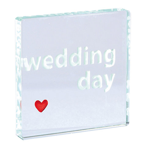Buy Spaceform Wedding Day Token Online at johnlewis.com