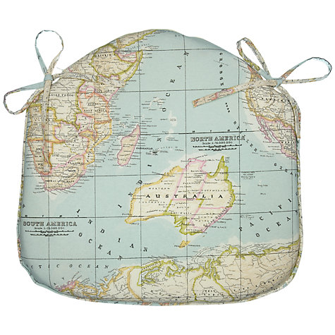 Buy John Lewis Maps Seat Pad, Multi Online at johnlewis.com