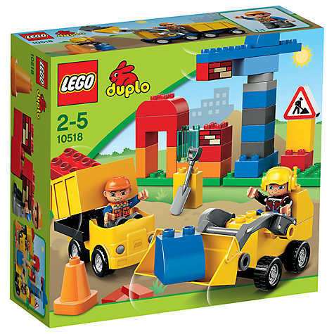 Buy LEGO Duplo My First Construction Site Set Online at johnlewis.com