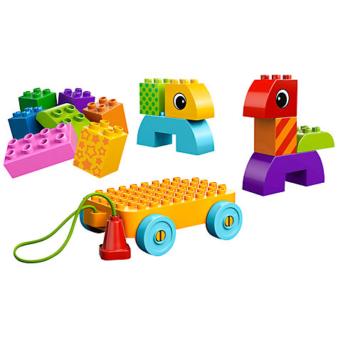 Buy LEGO DUPLO Toddler Build & Pull Along Set Online at johnlewis.com
