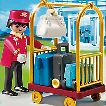 Buy Playmobil Porter with Baggage Cart Online at johnlewis.com