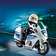 Buy Playmobil Police Motorbike Online at johnlewis.com
