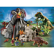 Buy Playmobil Dinos Volcano with Tyrannosaurus Online at johnlewis.com
