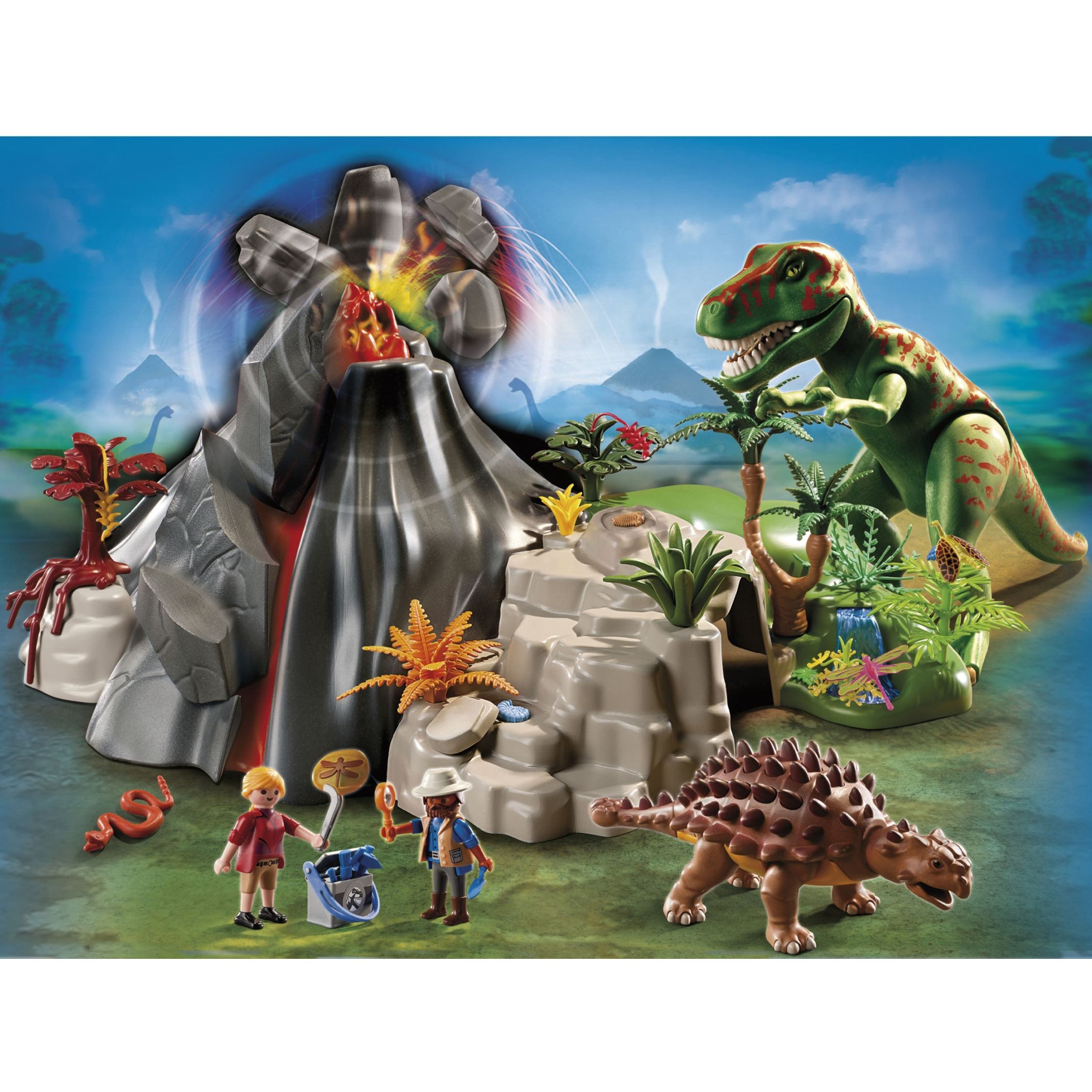 Click here for Playmobil Volcano with Tyrannosaurus