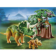 Buy Playmobil Dinos Explorer and Triceratops with Baby Online at johnlewis.com