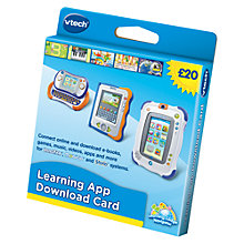Buy VTech Learning App Download £20 Gift Card Online at johnlewis.com