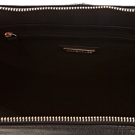 Buy Warehouse Side Buckle Tote Handbag, Black Online at johnlewis.com