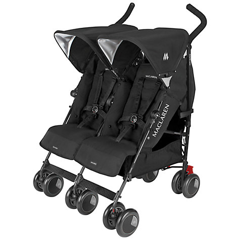 Buy Maclaren Twin Techno Pushchair, Black Online at johnlewis.com